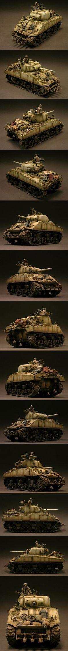 M4 Sherman 743rd TB Malmedy 1945. Model by Dinesh Ned.