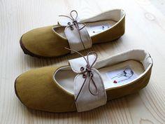 HydraHeart Organic Vegan Handmade Shoes- Mustard Oxford