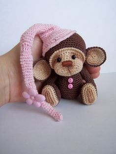 [SOLD] Crochet Thread Artist Monkey by Benesak / Teddy Bears & Pals / Teddy Talk: Creating, Collecting, Connecting
