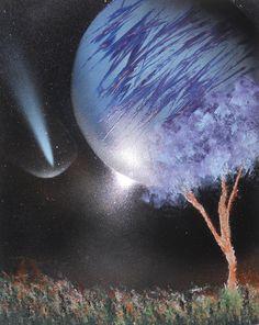 Spray paint art Meteor shower by AstronArt on Etsy, $35.00