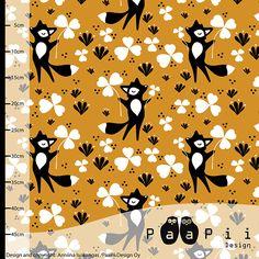 PaaPii Design - Clover fox organic jersey, ochre