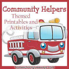 Community Helpers Themed Printables and Activities | Homeschool Giveaways -- could have used this about 15 years ago:)