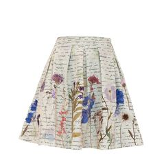 My Pair of Jeans - Herbarium Skirt (19050 RSD) ❤ liked on Polyvore featuring skirts, white tulip skirt, floral printed skirt, pocket skirt, floral skirt and tulip skirt