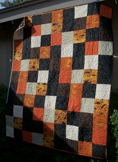 Halloween quilt...I have enough fabric for this. Hmm