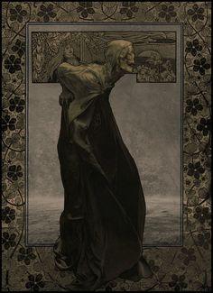 OLD DEATH Art Nouveau by MICHAŁ KLIMCZAK