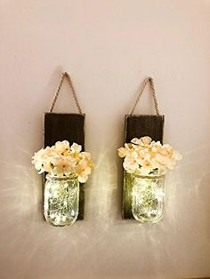 Mason Jar Wall Sconce (SET OF TWO) Rustic Wall Decor, Mas... https://www.amazon.com/dp/B077W6W5LX/ref=cm_sw_r_pi_dp_x_rT9tAb6XRJ4KB