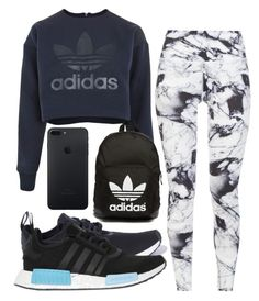 """Monday"" by jadenriley21 ❤ liked on Polyvore featuring adidas, adidas Originals and Varley"