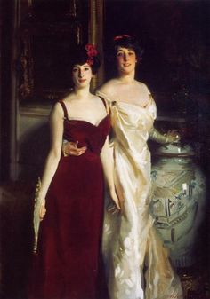 John Singer Sargent Ena and Betty, Daughters of Asher and Mrs. Wertheimer - Handmade Oil Painting Reproduction on Canvas