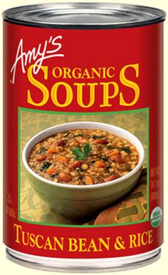 Organic Tuscan Bean & Rice Soup - this whole line of products is so good!!