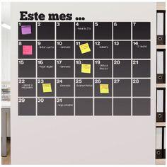 Vinilos Decorativos: Pizarra Calendario Organizador