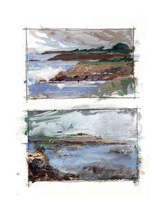 Landscape Sketch, Watercolor Landscape, Abstract Watercolor, Landscape Art, Landscape Paintings, Watercolor Paintings, Watercolors, Simple Watercolor, Architecture Sketchbook