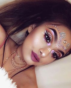 pinterest: @ yunggoddess0512 Glitter Force Toys, Glitter Makeup, Halloween Face Makeup