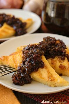 Grilled Polenta with Bacon Jam - Pure, delicious comfort food! Cheesy creamy polenta slices topped with an amazing bacon jam. Fantastic!