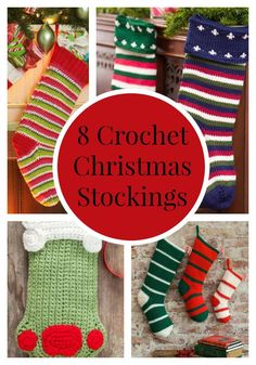 Crochet Christmas Stockings: 8 Free Patterns + More Christmas Crochet Patterns | FaveCrafts.com