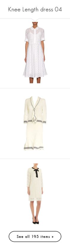 """Knee Length dress 04"" by kimmeke-sascha ❤ liked on Polyvore featuring dresses, print dresses, lace dress, transparent dress, slip dresses, white lace slip, kate middleton, sweater dress, white dress and white sweater dress"
