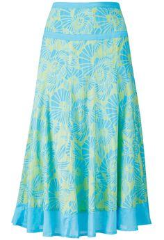 Haiku Print Skirt