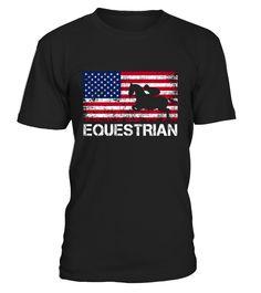 Men's USA Flag Equestrian T-Shirts - Eq3