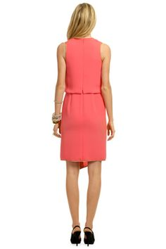 Rachel%20Roy - Coral%20Checkmate%20Dress