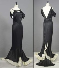 Chanel Haute Couture evening gown, ca.1935