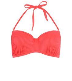 Haut de bikini DD-G rouge plissé à dos nu