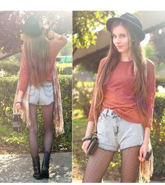This is Ariadna Majewska's buyer show in OurMall;  #SHORT #Denim #Plaid #SUNGLASS #HAT #BRACELET #Leather #Lace #BOOT #TIGHT #Polka Dot please click the picture for detail. http://ourmall.com/?NJ363e