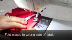 Jeanne Binet shows how to apply elastic with a regular sewing machine. This technique is used in many of our sewing patterns: gymnastics leotards, skating dr...