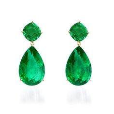 Emerald Earrings Emerald Green Cubic Zironia Drop Earring 90 Ct in Oval Shape Natural Colombian Emeralds 190 Set in White Gold Stud Earrings mija green jade & Emerald Earrings, Emerald Jewelry, Dangle Earrings, Bulgari Jewelry, Peridot Earrings, Crystal Earrings, Diamond Jewelry, Bling Bling, Jewelry Accessories