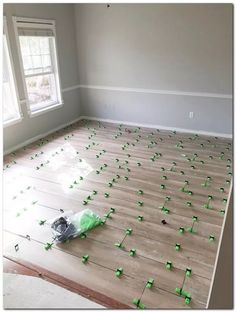 Laying natural wood tile floors with leveling clips. Home remodeling ideas. Sherwin William's Silverplate paint ideas. Plank Tile Flooring, Wood Plank Flooring, Farmhouse Flooring, Wood Tile Floors, Farmhouse Remodel, Modern Flooring, Flooring Ideas, Coastal Living Rooms, Formal Living Rooms