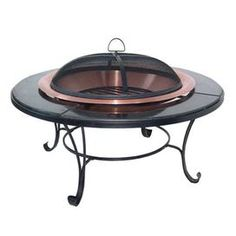 "Fire bowl with steel frame and granite rim.Product: Fire bowlConstruction Material: Steel and graniteColor: Asher Features:  Hi-temp finishIncludes screen, log grate, lifting tool and storage coverElegant and attractive Dimensions: 17"" H x 40"" Diameter"