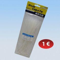 Συσκευασία με 100 δεματικά καλωδίων σε διάφορα μεγέθη 1,00 €