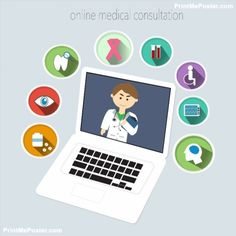 Online Medical Consultation poster #poster, #printmeposter, #mousepad