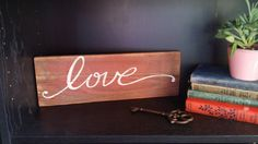 Rustic Reclaimed Wood Love Sign by UpcycledBlessings on Etsy