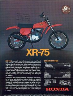 1977 Honda XR75 ad