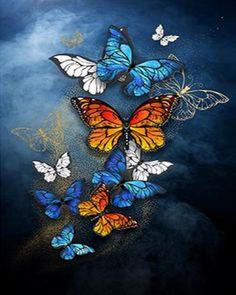 Marco Diy, Kit Pintura, Paint By Number Kits, Butterfly Painting, 5d Diamond Painting, Diamond Art, Cool Paintings, Diy Frame, Modern Wall Art