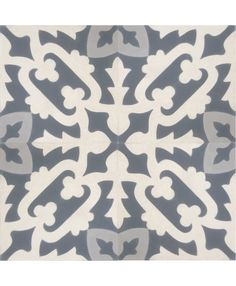 Cuba White Grey Encaustic Cement Tile