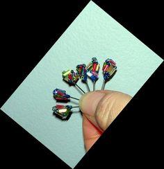 CARNIVAL GLAD POSH PINS  - hand made sewing or push pins