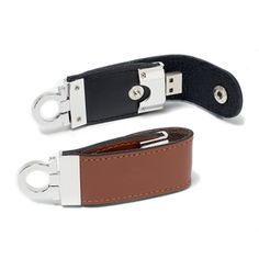 Custom leather USB flash drive KeyClip exclusively by #MemoTrek and with your company logo embossed on it's surface.  http://www.memotrek.com/usb-flash-drives-leather-keyclip
