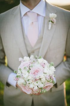 Image result for grey suit rose pink tie