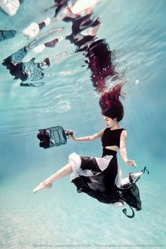 Feline Blush's 'Wonderland Couture' Campaign. Underwater photography by Ilse Moore.