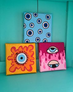 Small Canvas Paintings, Small Canvas Art, Mini Canvas Art, Acrylic Painting Canvas, Hippie Painting, Trippy Painting, Pink Painting, Psychedelic Drawings, Hippie Art