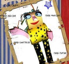 Personaje creado por Matías con el juego de Cilindros de Expresarte.