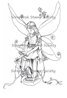 Fairy Wishes 2 digi stamp by Morgan Fitzsimons