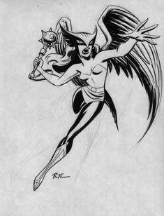 Hawkgirl Comic Art