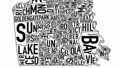 City Neighborhood Posters by Jenny Beorkrem & Ork Posters