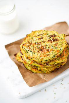 Baked zucchini and carrot pancakes (gluten-free)