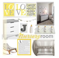 """""""Nursery room"""" by gelykou ❤ liked on Polyvore featuring interior, interiors, interior design, home, home decor, interior decorating, Nursery Works, Babyletto, Serena & Lily and nursery"""