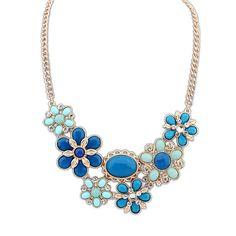 Women's Elegant Bid Pandent Chain Chunky Choker Statement Necklace Jewelry Gift
