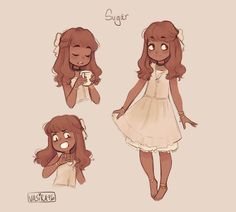 i wanted to make an oc named Sugar to go along with Salt and Pepper so i did and i sort of love her