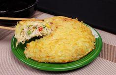 Tempo: 40minRendimento: 2Dificuldade: fácil Ingredientes: 3 batatas grandes com casca lavadas Sal, pimenta-do-reino e noz-moscada a gosto 1 colher (sopa) de azeite 1 colher (sopa) de manteiga Recheio: 2 xícaras (chá) de frango cozido e desfiado 1/2 lata de ervilha escorrida 1/2 lata de milho escorrida 1 tomate sem sementes picado 1/2 xícara (chá) de […]