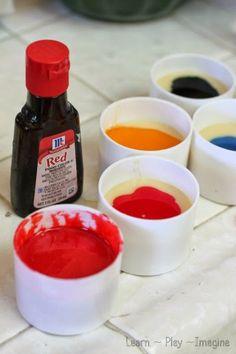 Two ingredient edible paint recipe